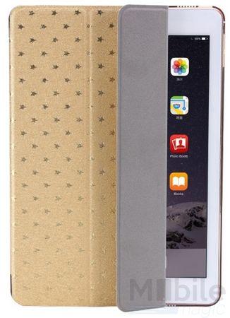 iPad Air 2 Luxus Stars Smart Sterne Etui Tasche Hülle GOLD – Bild 4