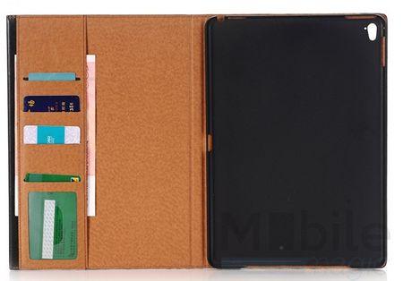 """iPad Pro 9.7"""" Anki Luxus Leder Etui Tasche Hülle BLAU & BRAUN – Bild 2"""