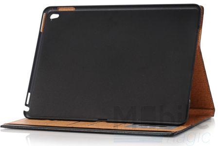 """iPad Pro 9.7"""" Anki Luxus Leder Etui Tasche Hülle BLAU & BRAUN – Bild 4"""