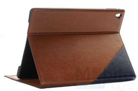 iPad Air 2 Anki Luxus Leder Etui Tasche Hülle BLAU & BRAUN – Bild 1