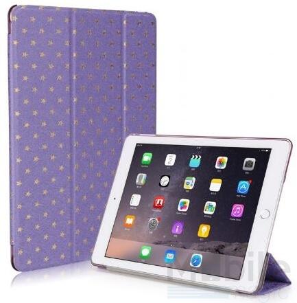 iPad Air 2 Luxus Stars Smart Sterne Etui Tasche Hülle LILA VIOLETT – Bild 3