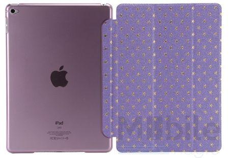 iPad Air 2 Luxus Stars Smart Sterne Etui Tasche Hülle LILA VIOLETT – Bild 1