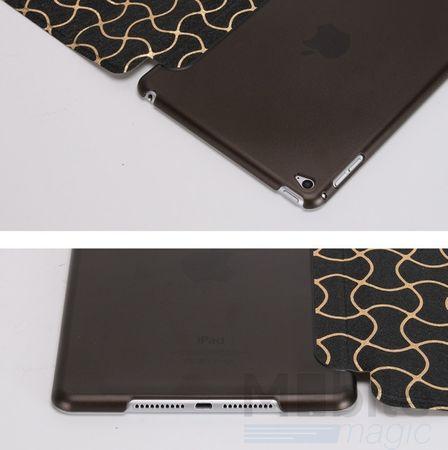 iPad mini 4 Smart Luxus Etui Tasche Hülle SCHWARZ – Bild 6