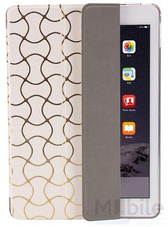 iPad Air 2 Smart Luxus Etui Tasche Hülle WEISS – Bild 3