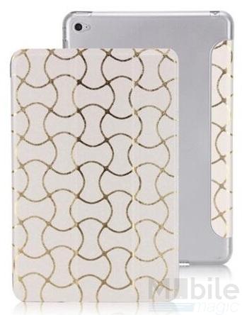 iPad Air 2 Smart Luxus Etui Tasche Hülle WEISS – Bild 7