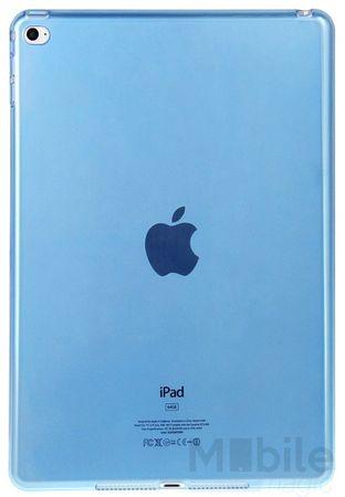 iPad Air 2 Gummi TPU Cover Silikon Clear Case BLAU – Bild 2