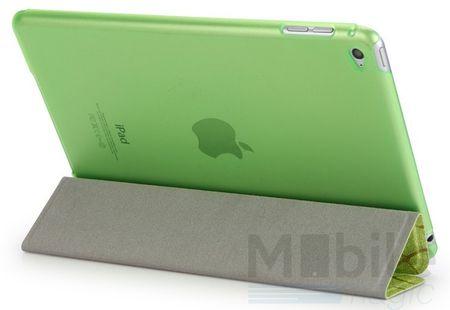 iPad mini 4 Smart Luxus Etui Tasche Hülle GRÜN – Bild 3