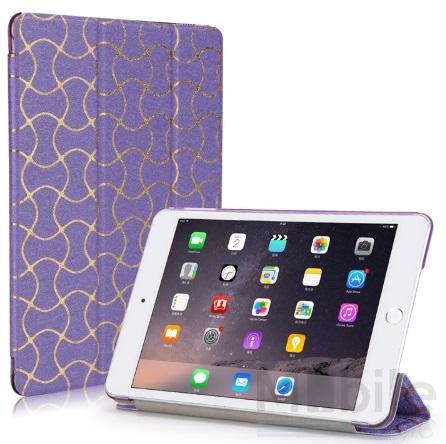 iPad mini 4 Smart Luxus Etui Tasche Hülle LILA VIOLETT – Bild 1