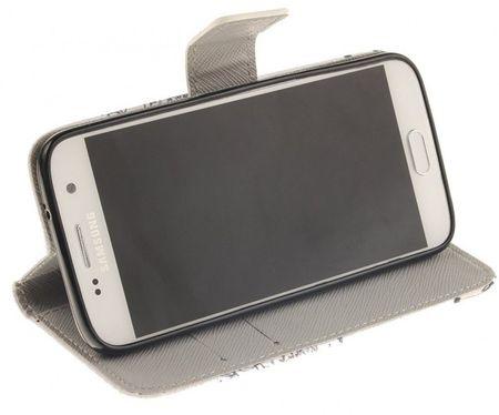 Samsung Galaxy S7 Pusteblume Junge & Mädchen Leder Etui Tasche Hülle Portemonnaie WEISS – Bild 4