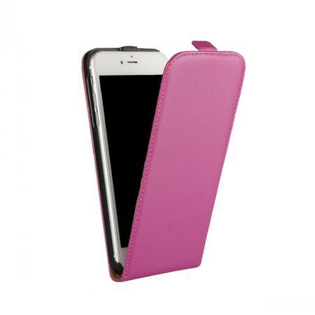 iPhone 8 Leder Flip Case Cover Etui Tasche Vertikal Hülle PINK – Bild 2