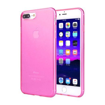 iPhone 8 TPU Gummi Hülle Klar Silikon Crystal Clear Case PINK – Bild 1