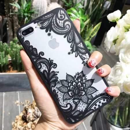 iPhone 8 Lace Rüschchen Mandala Henna Hülle Gummi TPU Silikon Case Cover – Bild 3