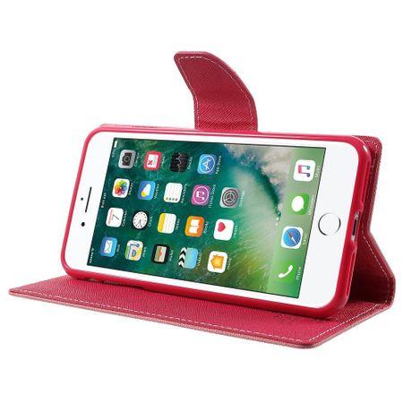 iPhone 8 Mercury Goospery Leder Etui Case mit Kartenfach Flip Tasche Hülle PINK / ROSA – Bild 2
