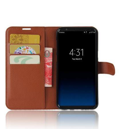 Samsung Galaxy Note 8 Flip Etui Leder Case Tasche Hülle mit Kartenfach BRAUN – Bild 2