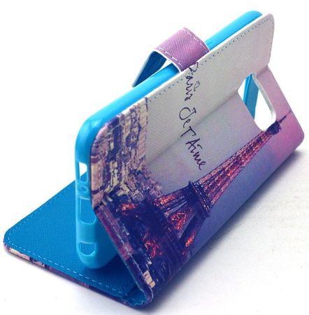 Samsung Galaxy S7 Edge Eiffelturm Paris Leder Etui Tasche Hülle Portemonnaie – Bild 3