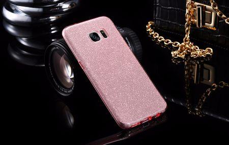Samsung Galaxy Note 8 Glitzer Hülle Gummi TPU Klar Silikon Crystal Clear Case ROSÉGOLD Pink Rosa – Bild 2