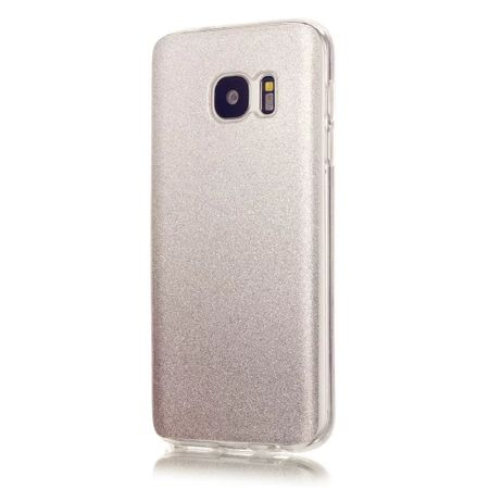 Samsung Galaxy Note 8 Glitzer Hülle Gummi TPU Klar Silikon Crystal Clear Case SILBER – Bild 1