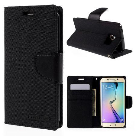Samsung Galaxy Note 8 Mercury Goospery Canvas Stoff Leder Etui Case mit Kartenfach Flip Tasche Hülle SCHWARZ – Bild 8