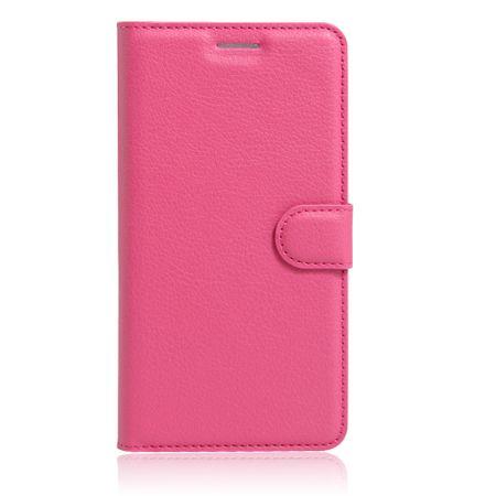 Google Pixel 2 Flip Etui Leder Case Tasche Hülle mit Kartenfach PINK – Bild 3