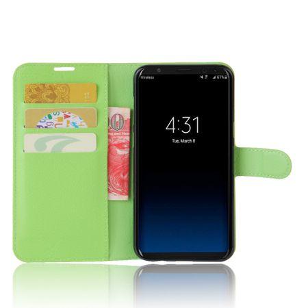 Google Pixel 2 Flip Etui Leder Case Tasche Hülle mit Kartenfach GRÜN – Bild 2