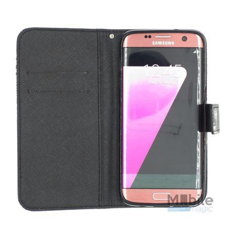 Samsung Galaxy S7 Pusteblume Junge & Mädchen Leder Etui Tasche Hülle Portemonnaie SCHWARZ – Bild 4