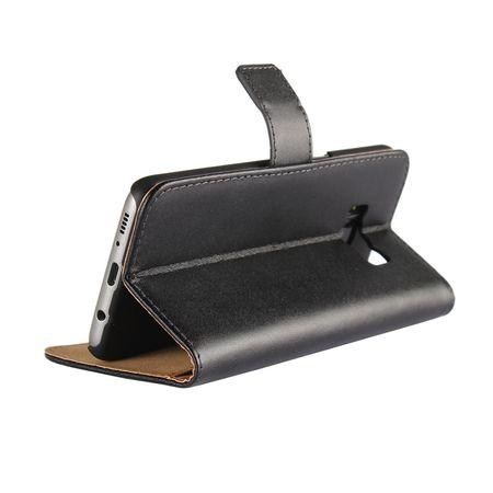 Wiko Jerry Luxus Leder Etui Case mit Kartenfach Flip Tasche Hülle SCHWARZ – Bild 4