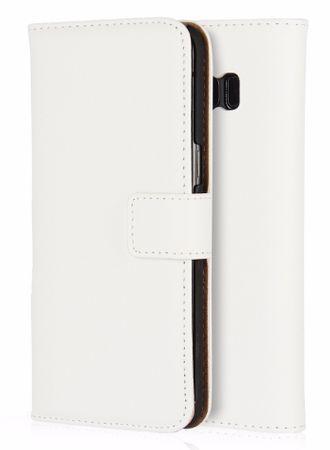 Wiko Jerry Luxus Leder Etui Case mit Kartenfach Flip Tasche Hülle WEISS – Bild 1