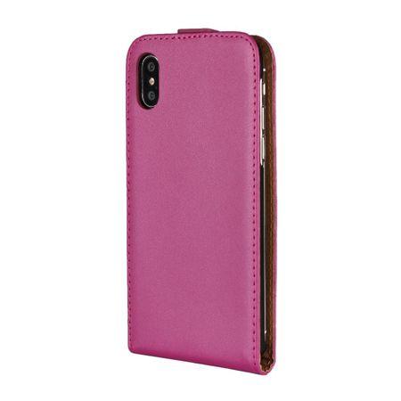 iPhone X Leder Flip Case Cover Etui Tasche Vertikal Hülle PINK – Bild 4