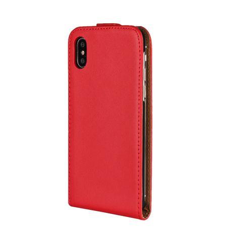 iPhone X Leder Flip Case Cover Etui Tasche Vertikal Hülle ROT – Bild 4