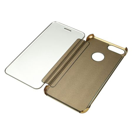 iPhone X Clear Window View Case Cover Spiegel Mirror Hülle GOLD – Bild 3