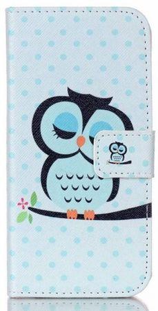 Sony Xperia XA Leder Etui Eule Owl Tasche Hülle Portemonnaie BLAU / PINK