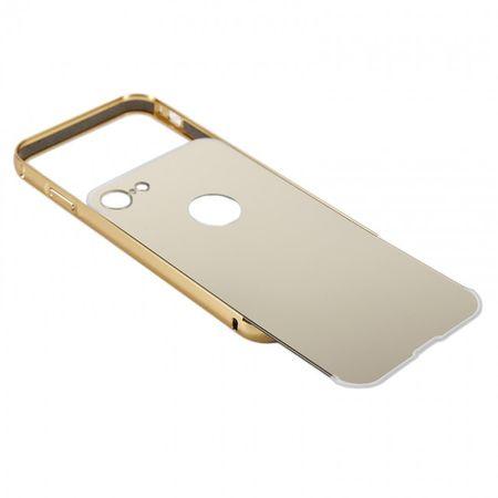 iPhone X Alu-Bumper Mirror mit Spiegel-Rücken Metall Bumper Case Hülle Aluminium GOLD – Bild 4