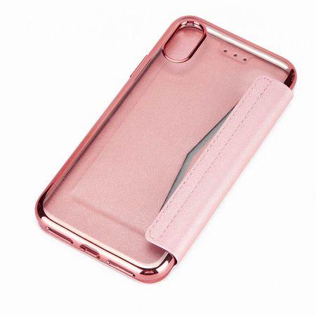 iPhone X Leder Etui Hülle Flip Case ROSÉGOLD / PINK – Bild 3