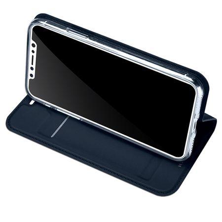 iPhone X DUX DUCIS Etui Leder Case Hülle mit Kartenfach BLAU – Bild 4