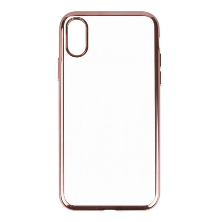 iPhone X Metallic Gummi TPU Silikon Case Hülle Schutzhülle Cover Klar ROSÉGOLD – Bild 3
