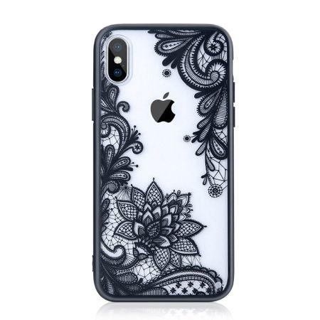 iPhone X Lace Rüschchen Mandala Henna Hülle Gummi TPU Silikon Case Cover – Bild 1