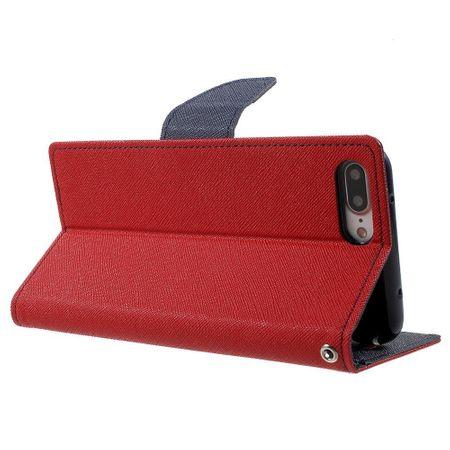iPhone X Mercury Goospery Leder Etui Case mit Kartenfach Flip Tasche Hülle ROT – Bild 3