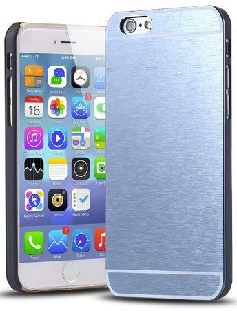 iPhone 6S / 6 Brushed Aluminium Metall Look Hard Case BLAU – Bild 1