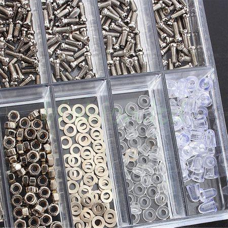 1000 Mini Schraubenset Brillenreparatur – Bild 8
