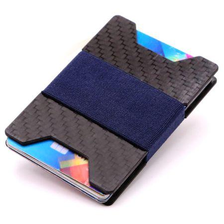 Carbon Kartenhalter Anti RFID Block Portemonnaie – Bild 4