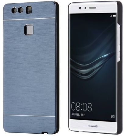 Huawei P9 Plus Brushed Aluminium Metall Look Hard Case BLAU – Bild 2
