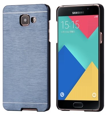 Samsung Galaxy A5 2016 Brushed Aluminium Metall Hard Case BLAU – Bild 2