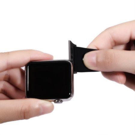 Apple Watch 38mm Series 1 / 2 / 3 S / M Silikon Sport Armband Strap SCHWARZ GRÜN – Bild 4