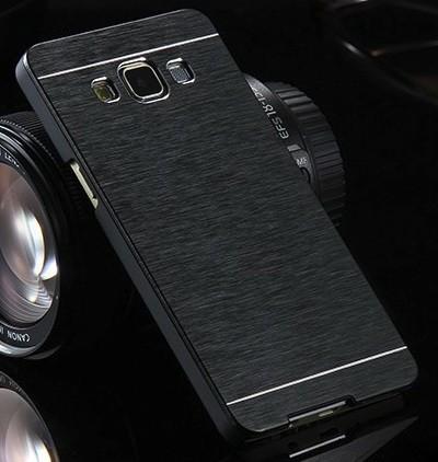 Samsung Galaxy A5 2015 Brushed Aluminium Metall Hard Case SCHWARZ – Bild 3