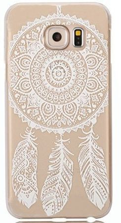 Samsung Galaxy S6 Edge Plus Traumfänger Dreamcatcher Gummi TPU Silikon Case TRANSPARENT