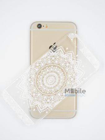 iPhone 6S / 6 Indian Mandala Gummi TPU Silikon Case TRANSPARENT – Bild 3