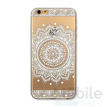 iPhone 6S / 6 Indian Mandala Gummi TPU Silikon Case TRANSPARENT – Bild 1