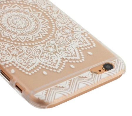 iPhone 6S Plus / 6 Plus Indian Mandala Gummi TPU Silikon Case TRANSPARENT – Bild 2