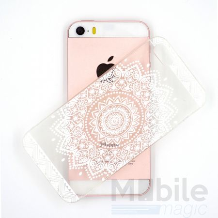 iPhone SE / 5S / 5 Indian Mandala Gummi TPU Silikon Case TRANSPARENT – Bild 3