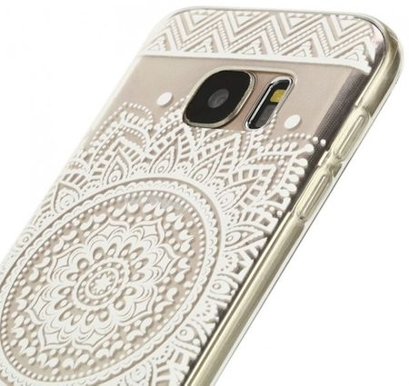 Samsung Galaxy S7 Edge Indian Mandala Gummi TPU Silikon Case TRANSPARENT – Bild 2